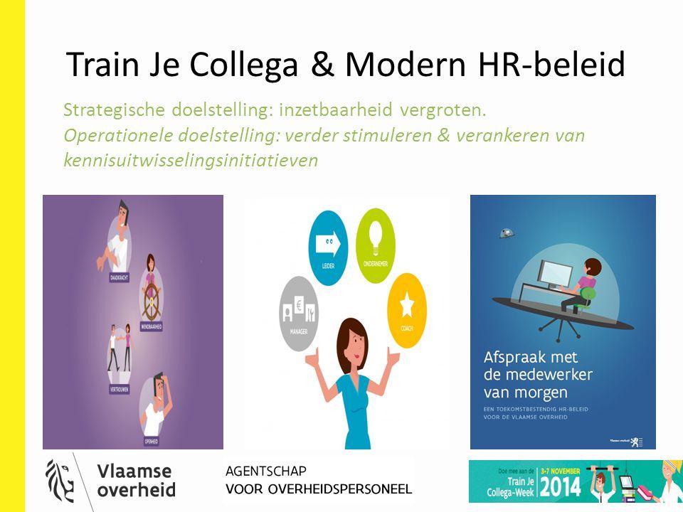 HR-deelnetwerk 23 mei 2014 8 Train Je Collega & Modern HR-beleid Strategische doelstelling: inzetbaarheid vergroten. Operationele doelstelling: verder