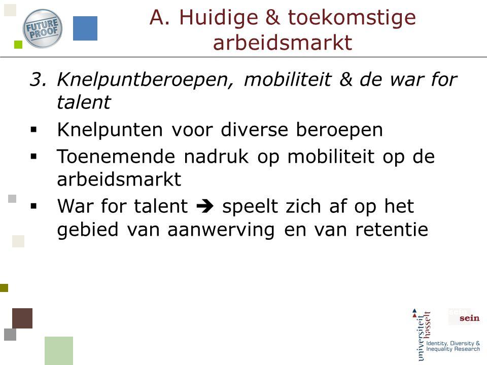 3.Knelpuntberoepen, mobiliteit & de war for talent  Knelpunten voor diverse beroepen  Toenemende nadruk op mobiliteit op de arbeidsmarkt  War for t