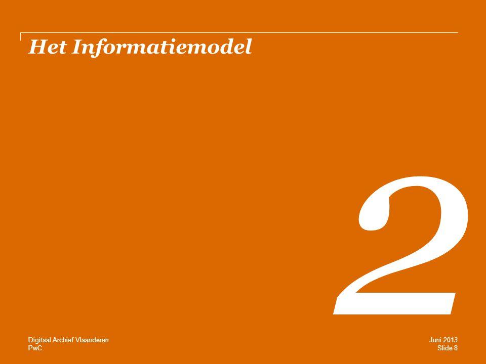 PwC Het Informatiemodel 2 Slide 8 Juni 2013 Digitaal Archief Vlaanderen
