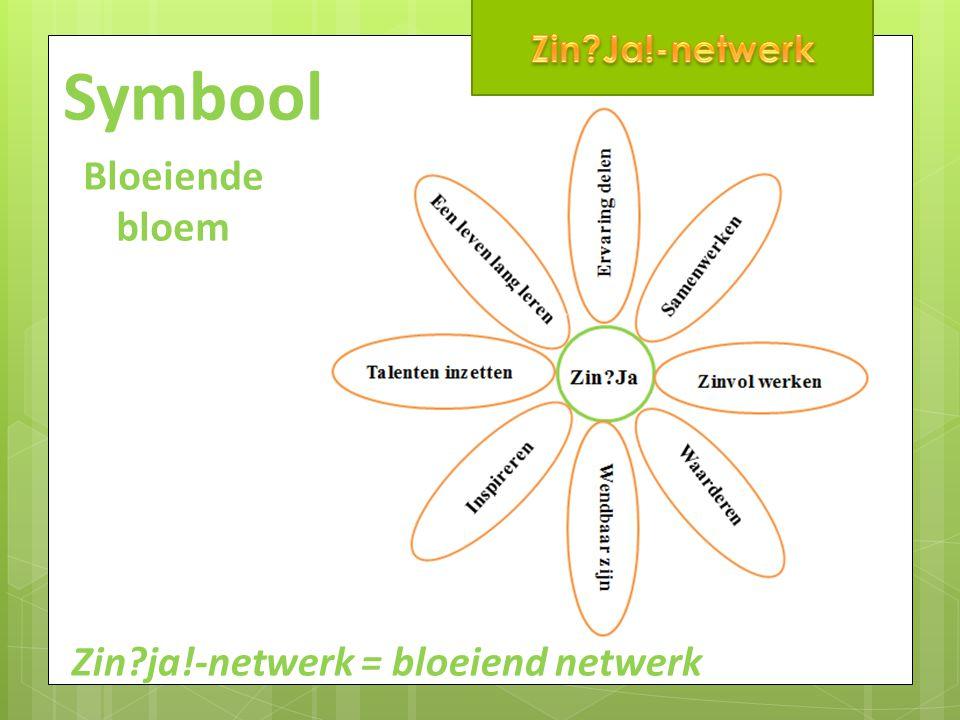 Symbool Bloeiende bloem Zin ja!-netwerk = bloeiend netwerk