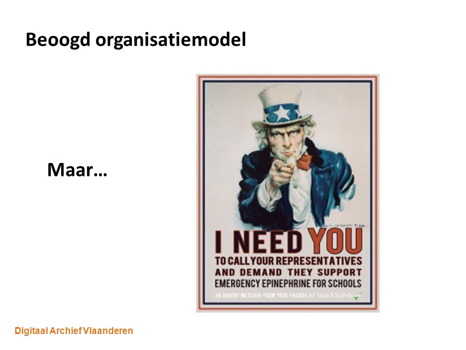 Digitaal Archief Vlaanderen Beoogd organisatiemodel Maar…