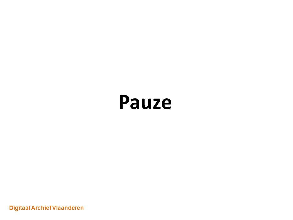 Digitaal Archief Vlaanderen Pauze