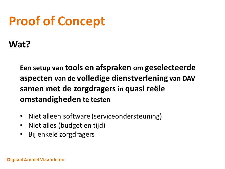 Digitaal Archief Vlaanderen Proof of Concept Wat.