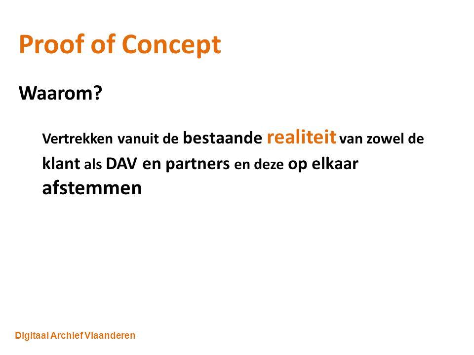 Digitaal Archief Vlaanderen Proof of Concept Waarom.