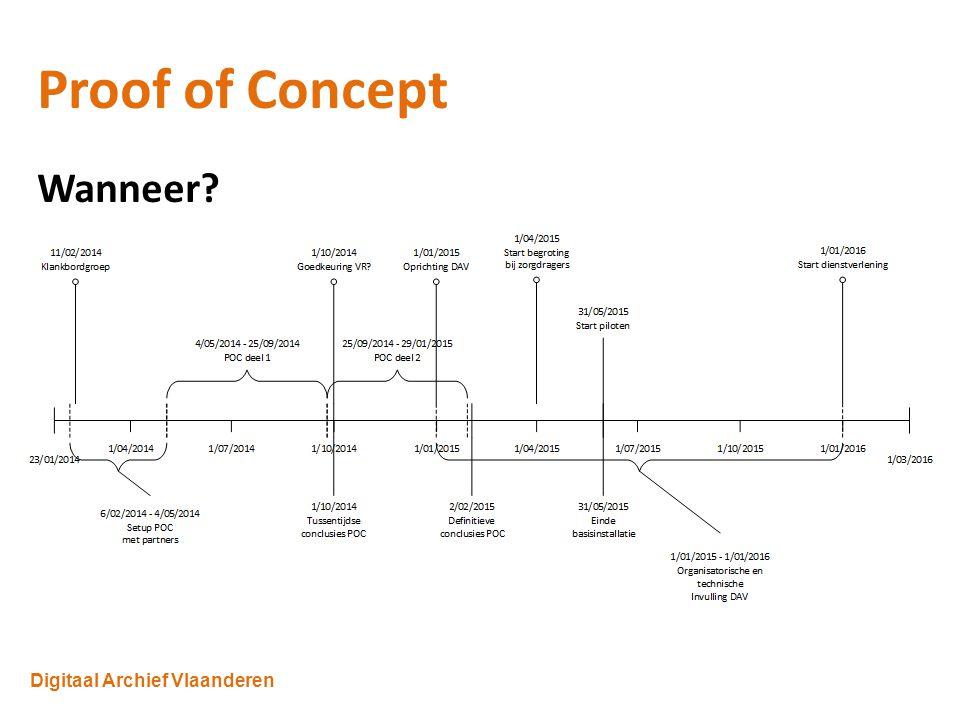 Digitaal Archief Vlaanderen Proof of Concept Wanneer.