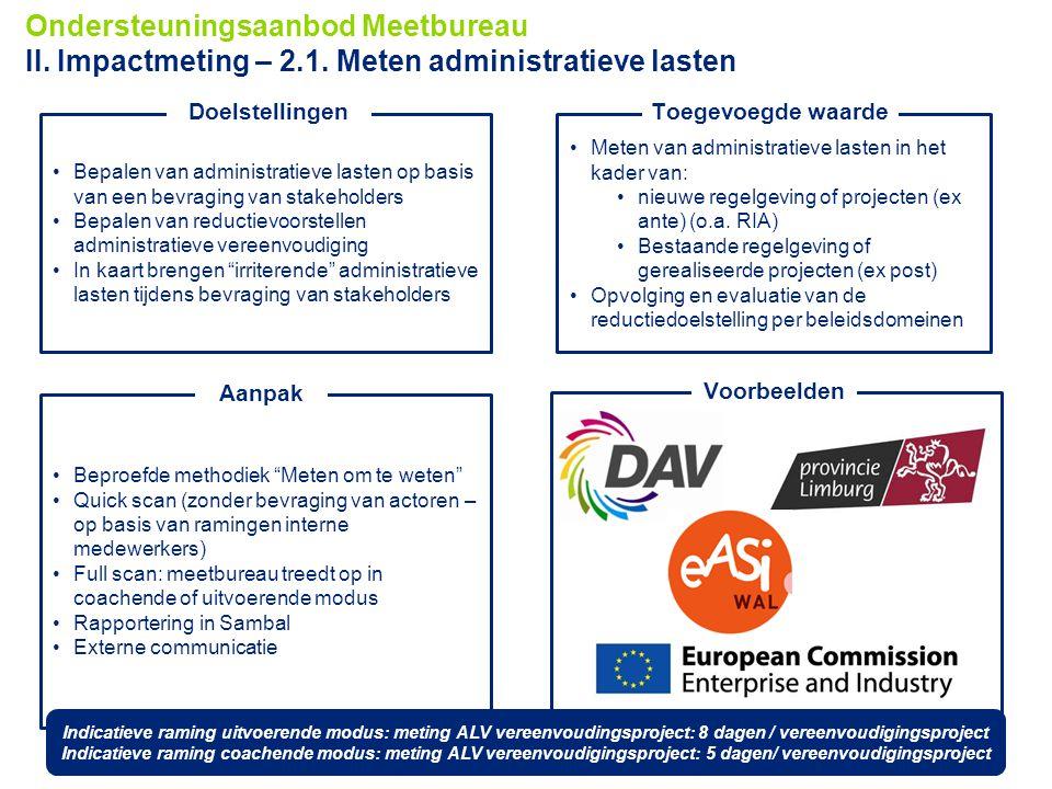 13 © 2012 Deloitte Touche Tohmatsu Meten van administratieve lasten in het kader van: nieuwe regelgeving of projecten (ex ante) (o.a. RIA) Bestaande r