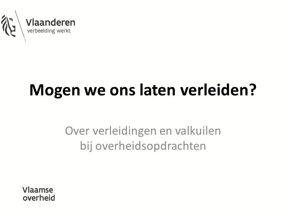 Even voorstellen Christof Impens Afdeling Overheidsopdrachten Departement Bestuurszaken Gunter Schryvers Audit Vlaanderen