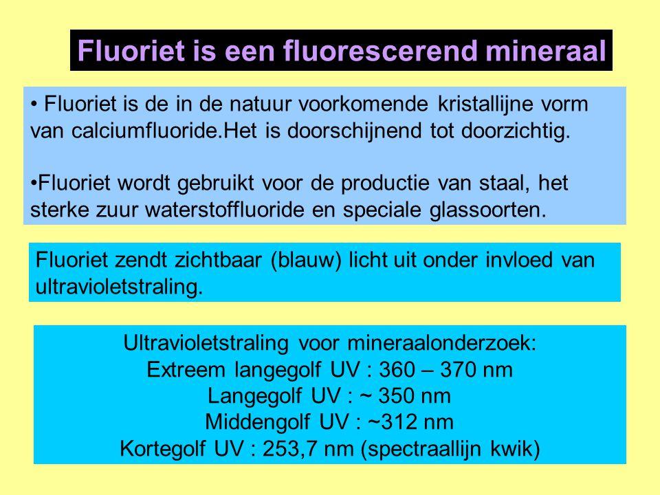 Fluoriet is de in de natuur voorkomende kristallijne vorm van calciumfluoride.Het is doorschijnend tot doorzichtig. Fluoriet wordt gebruikt voor de pr