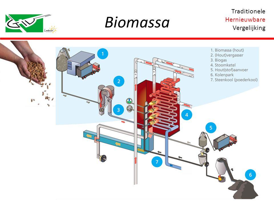 Biomassa Traditionele Hernieuwbare Vergelijking