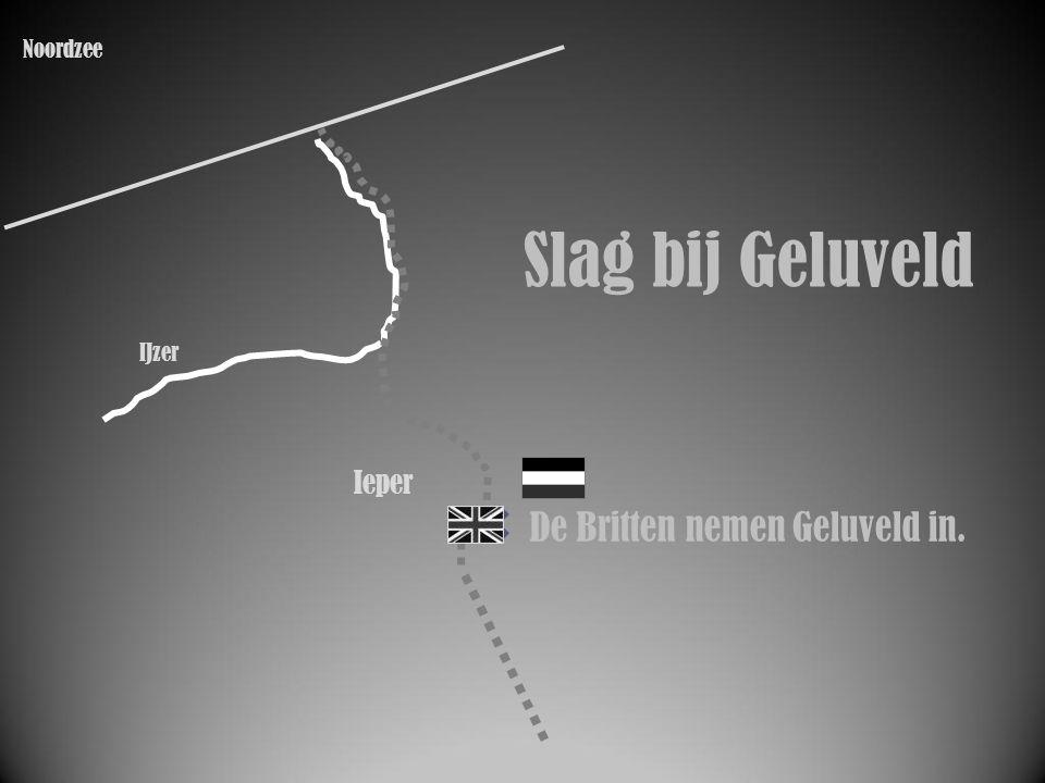 IJzer Ieper De Britten nemen Geluveld in. Slag bij Geluveld Noordzee