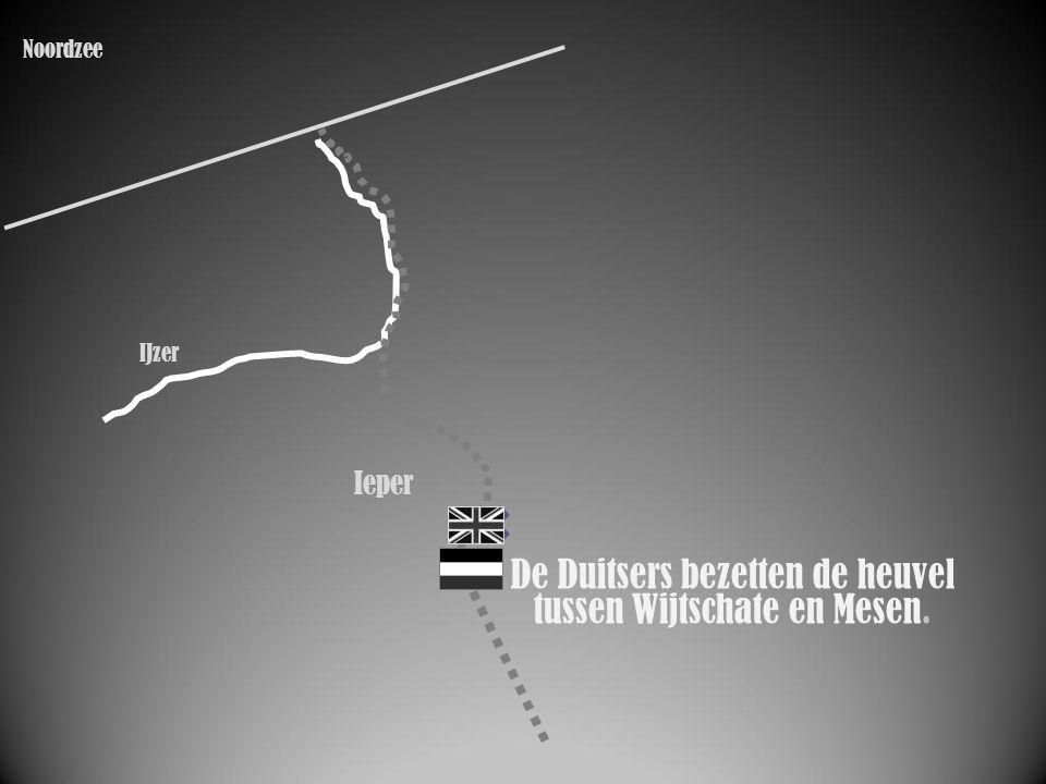 IJzer Ieper De Duitsers bezetten de heuvel tussen Wijtschate en Mesen. Noordzee