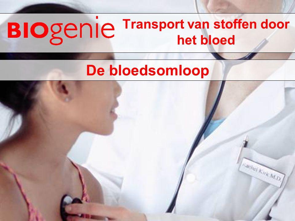 Transport van stoffen door het bloed De bloedsomloop
