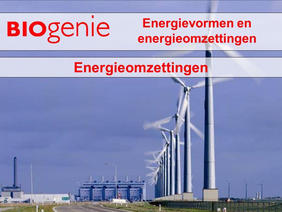 Energievormen en energieomzettingen Energieomzettingen