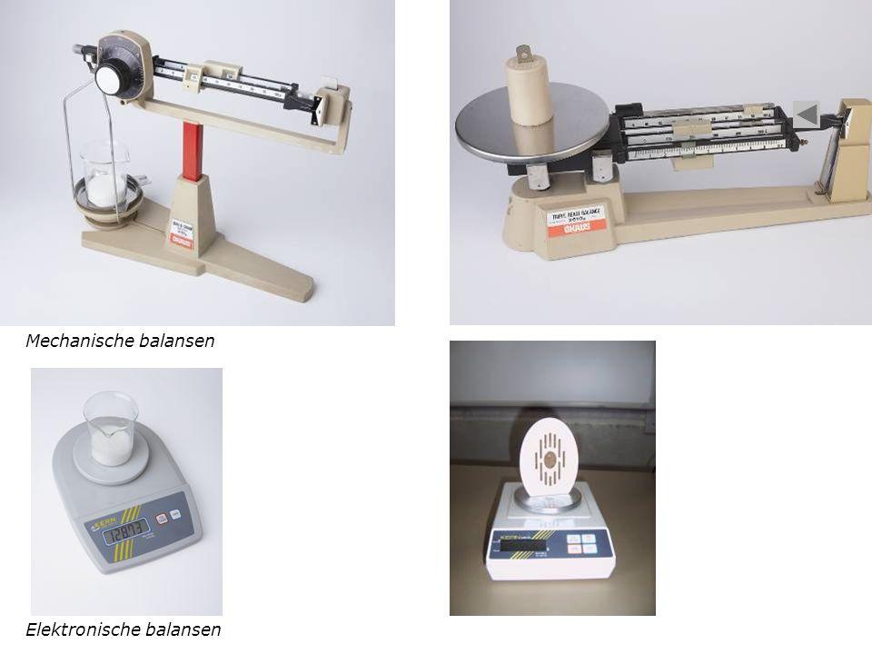 Elektronische balansen Mechanische balansen