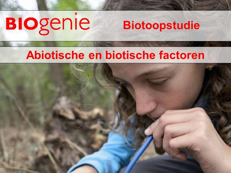 Biotoopstudie Abiotische en biotische factoren