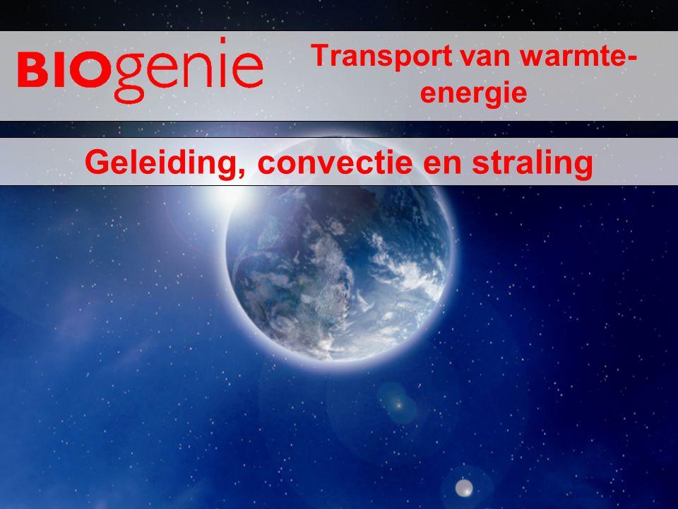 Transport van warmte- energie Geleiding, convectie en straling