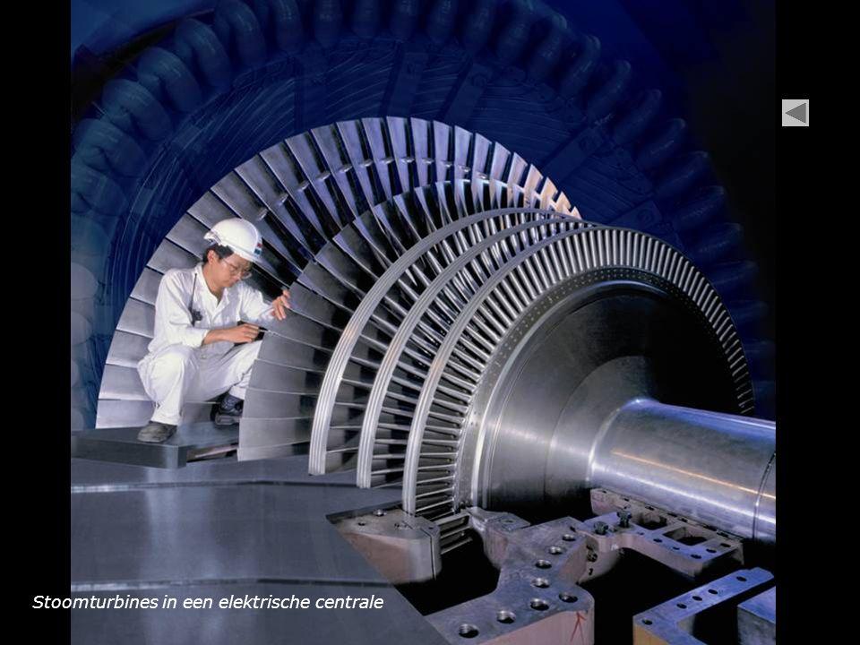 Stoomturbines in een elektrische centrale