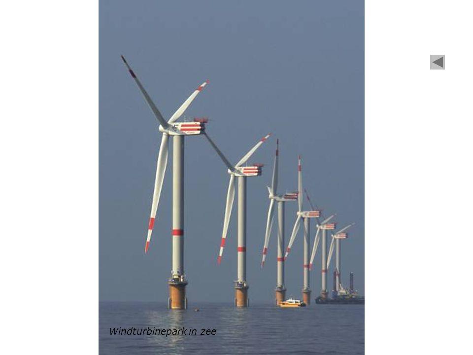 Windturbinepark in zee