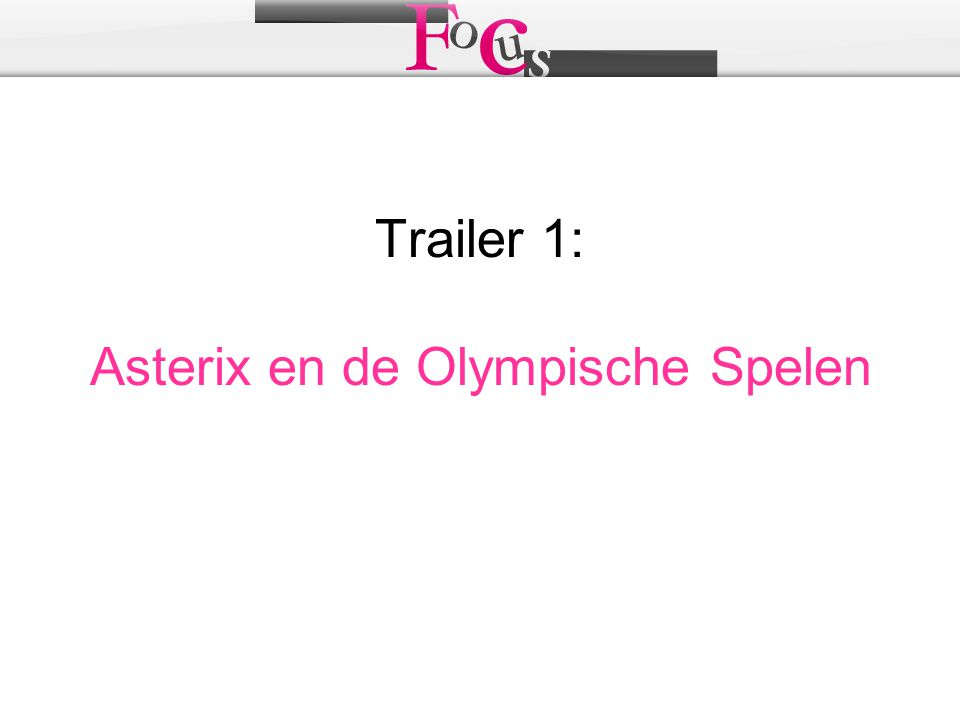 Trailer 1: Asterix en de Olympische Spelen