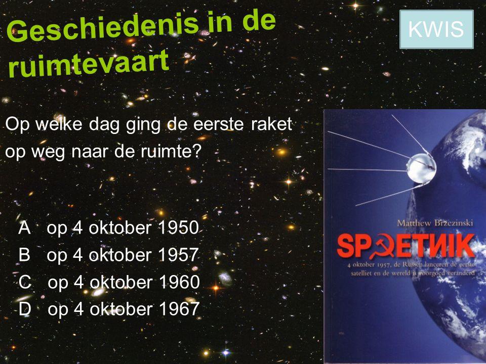 Geschiedenis in de ruimtevaart Wat is de naam van het eerste ruimtetuig dat een baan rond de aarde heeft gemaakt.