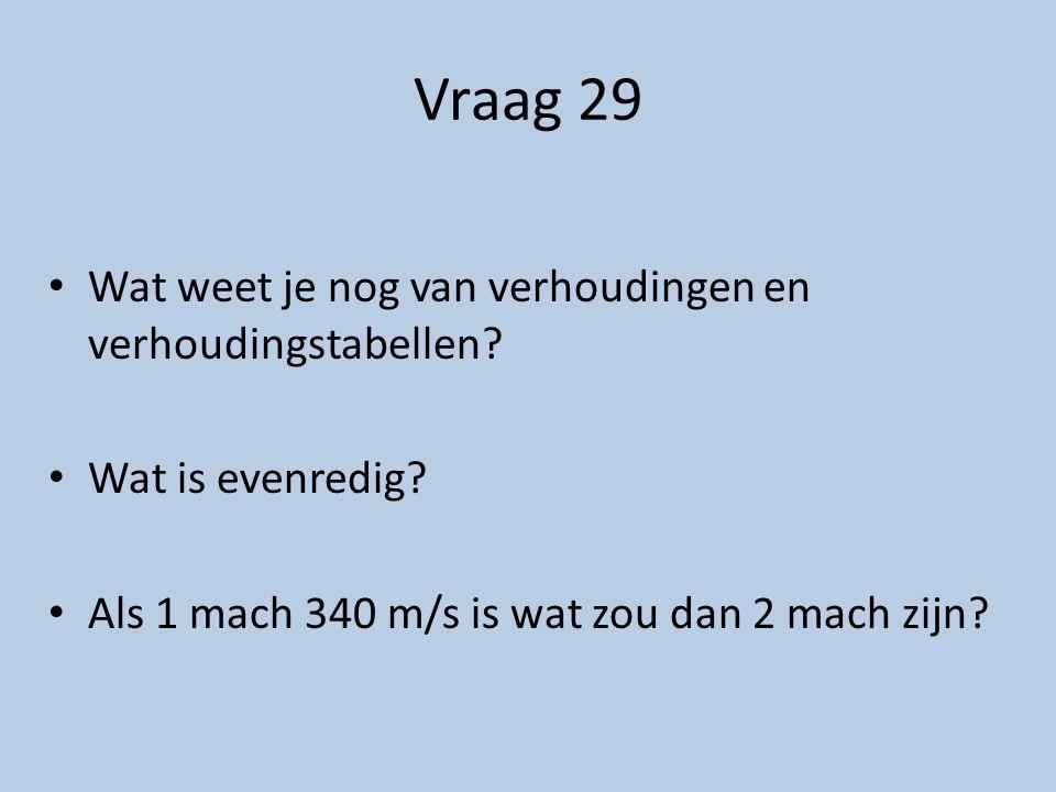 Vraag 30 Welke 3 snelheden zie je in het verhaal .