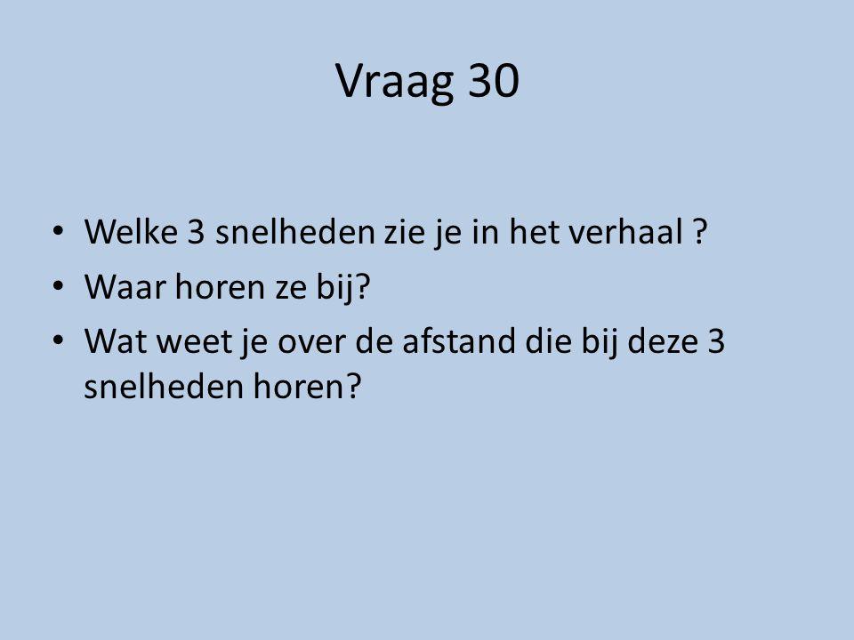 Vraag 33 Wat heb je nodig om een snelheid te bereken.