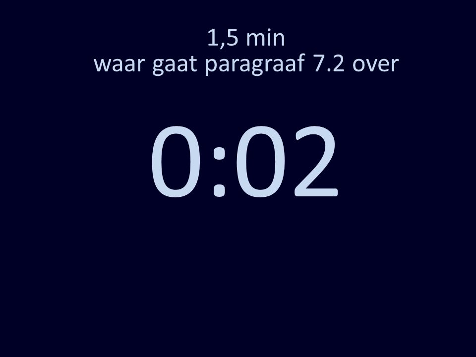 1,5 min waar gaat paragraaf 7.2 over 0:02
