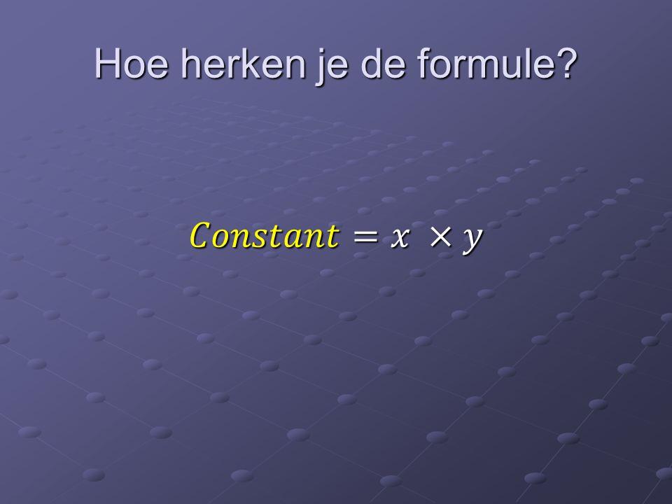 Welke bekende formules zijn omgekeerd evenredig?