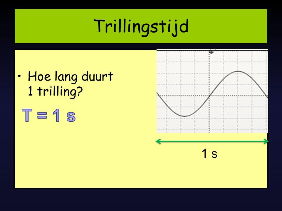 Hoe lang duurt 1 trilling? Trillingstijd 1 s