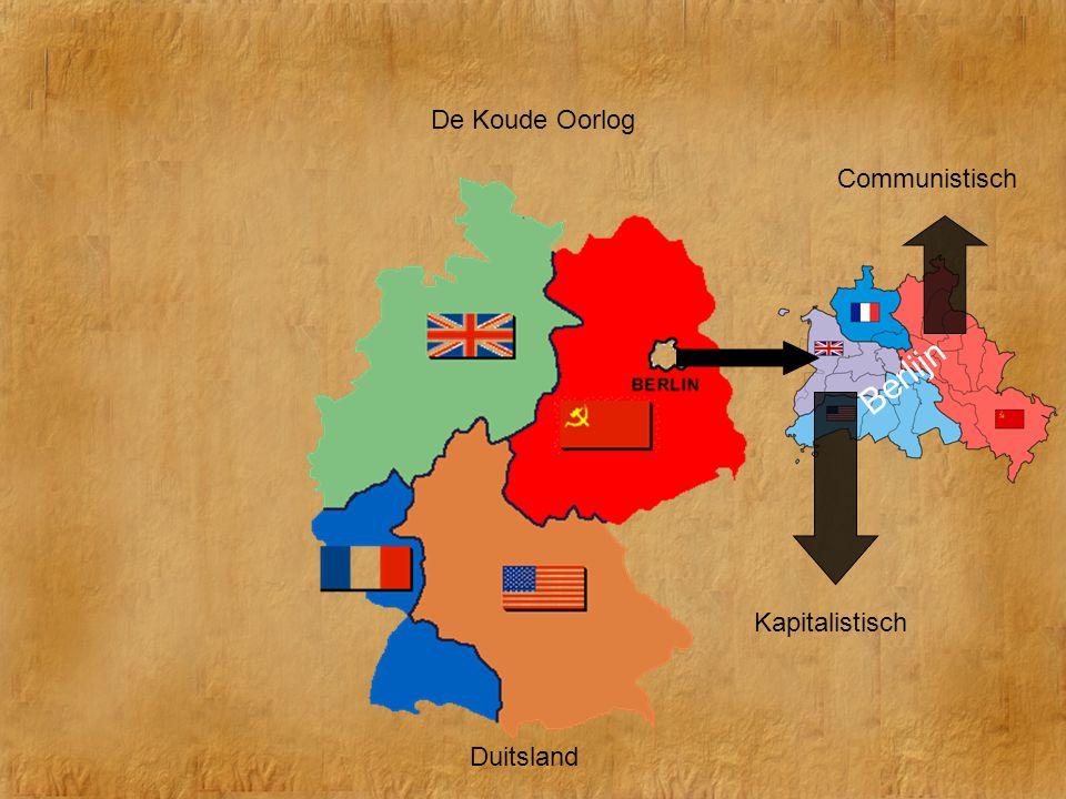 De Koude Oorlog Duitsland Communistisch Kapitalistisch Berlijn