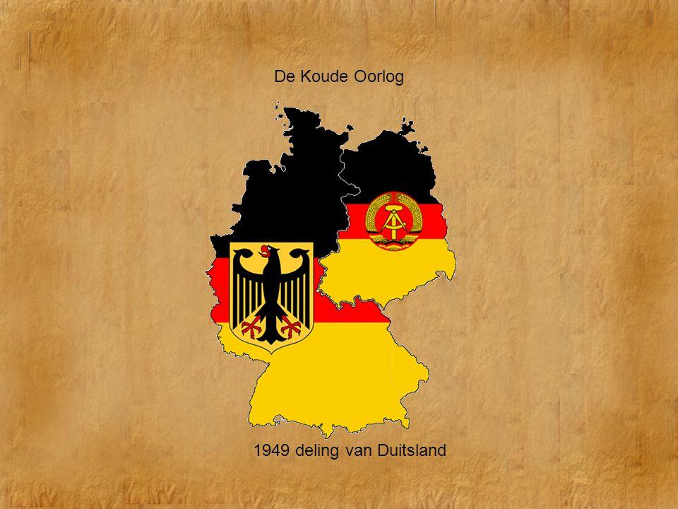 De Koude Oorlog 1949 deling van Duitsland