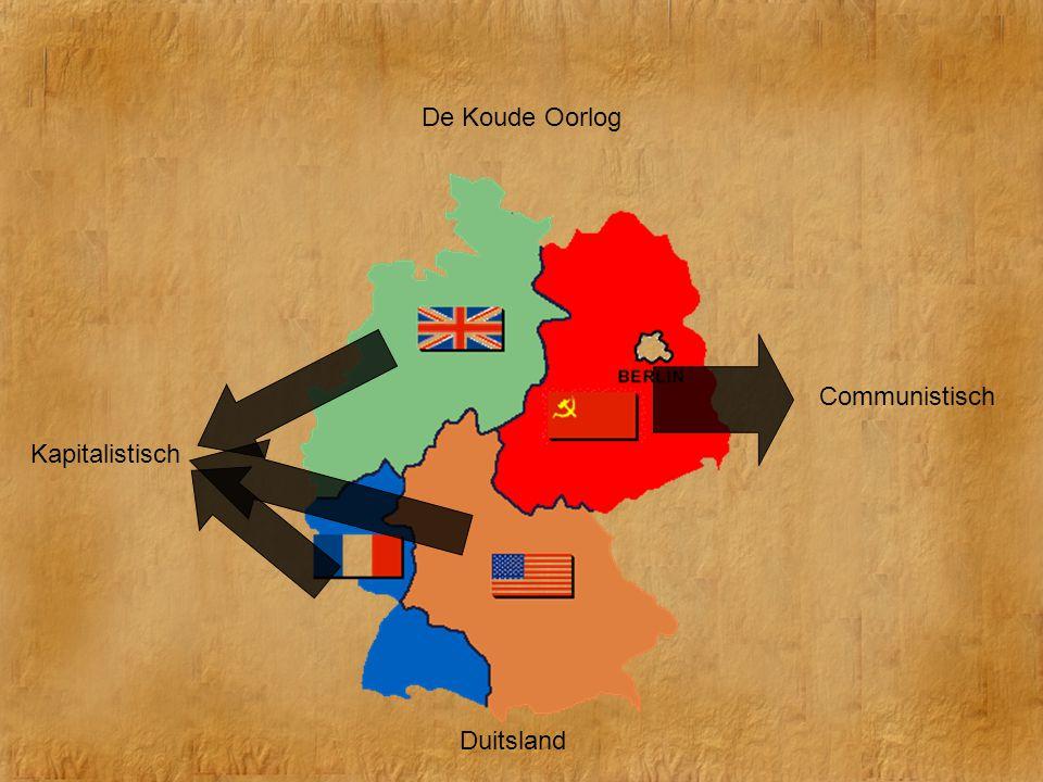 De Koude Oorlog Duitsland Communistisch Kapitalistisch