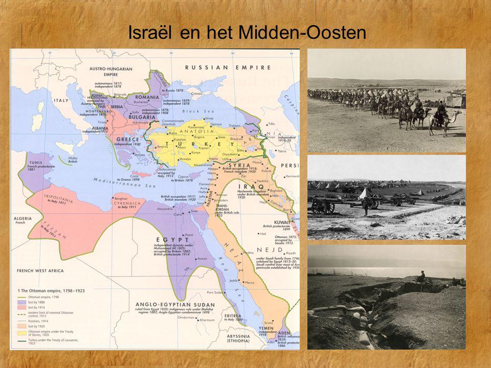 Israël en het Midden-Oosten Na W.O.II riep Ben Goerion in 1948 de Israëlische staat uit.