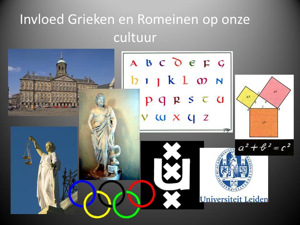 Invloed Grieken en Romeinen op onze cultuur