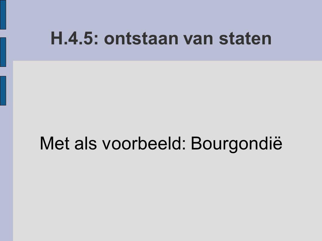 H.4.5: ontstaan van staten Met als voorbeeld: Bourgondië