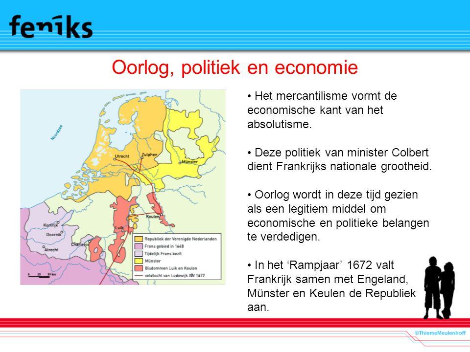Oorlog, politiek en economie Het mercantilisme vormt de economische kant van het absolutisme. Deze politiek van minister Colbert dient Frankrijks nati