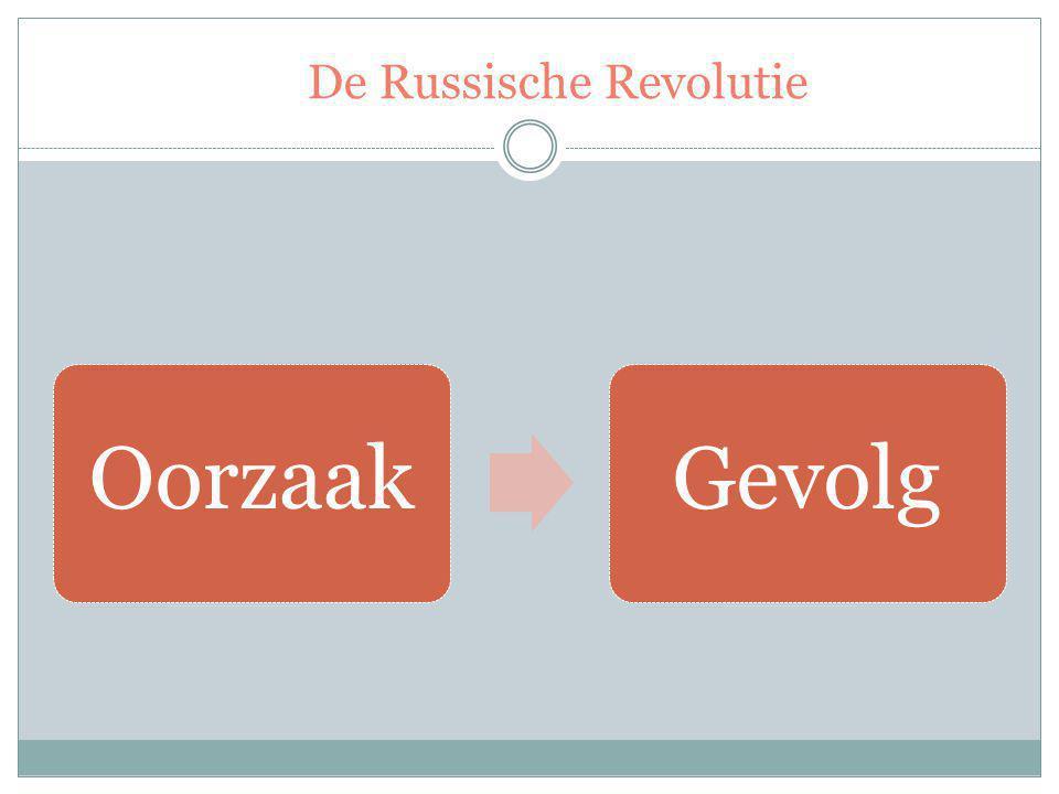 De Russische Revolutie OorzaakGevolg