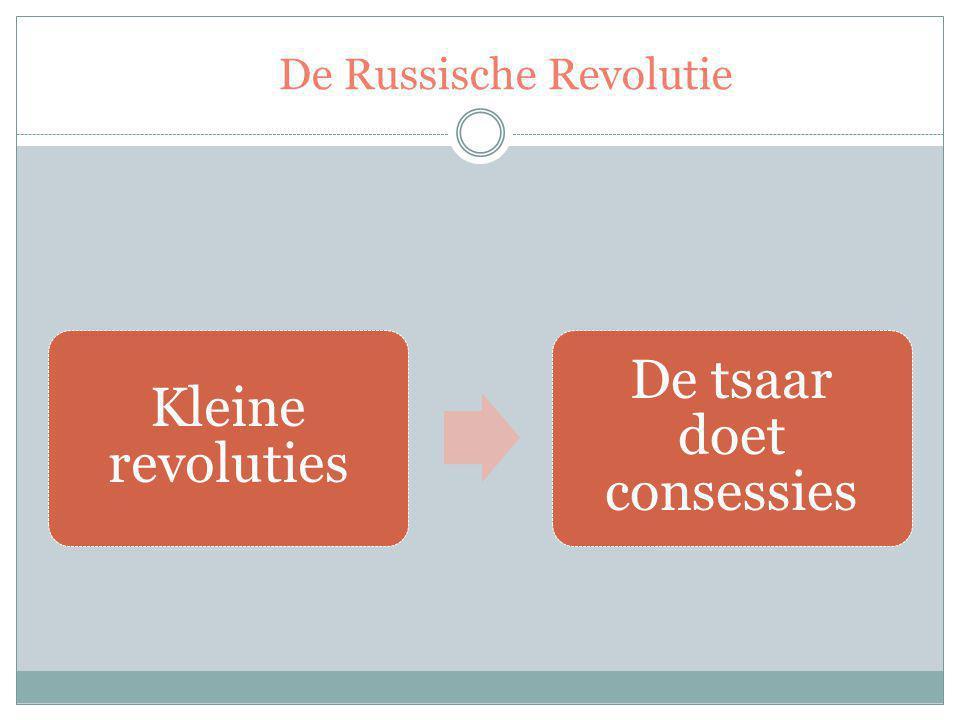 De Russische Revolutie Kleine revoluties De tsaar doet consessies