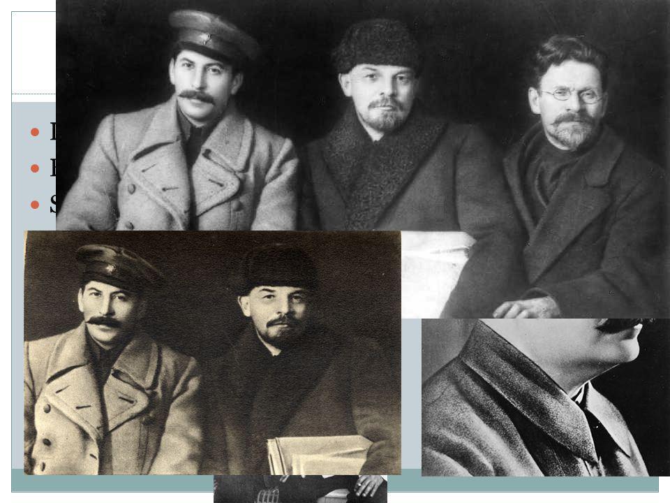 Paragraaf 2.2, Vijfjarenplannen Lenin overlijdt in 1924 Beoogd opvolger: Trostki, leider van het Rode leger.