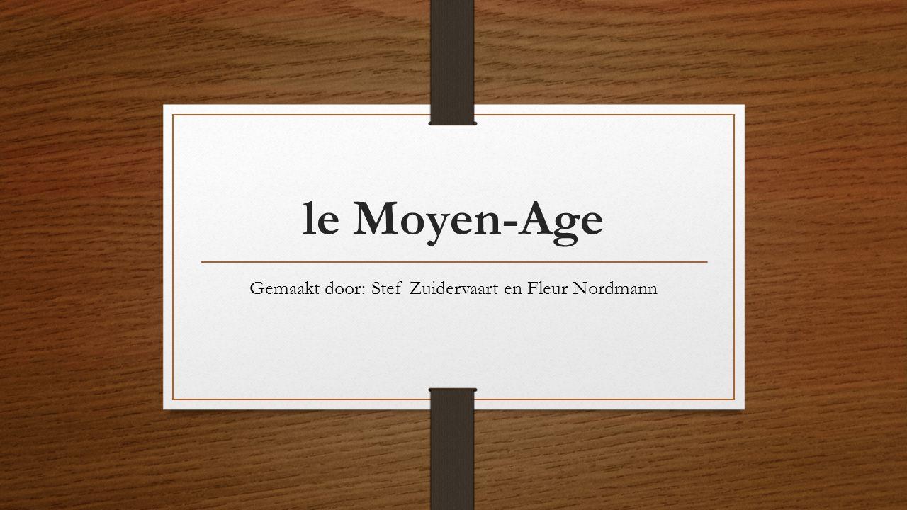 le Moyen-Age Gemaakt door: Stef Zuidervaart en Fleur Nordmann