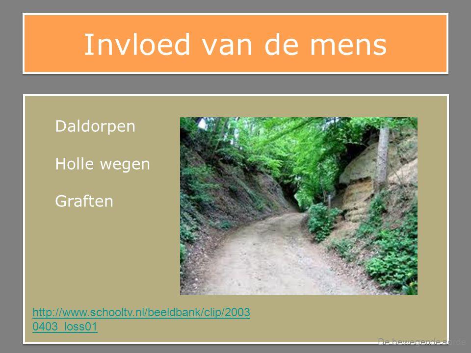 Invloed van de mens De bewegende aarde Daldorpen Holle wegen Graften http://www.schooltv.nl/beeldbank/clip/2003 0403_loss01