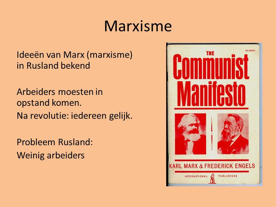 Lenin (1874-1924) 1 partij moet de revolutie leiden Rusland naar het communisme leiden: samenleving waarin iedereen gelijk is.