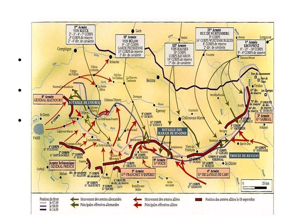 Grote slagen Slag bij de Marne (4-9 sept. 1914) Slag bij Verdun (21 feb. – 19 dec. 1916) Slag bij de Somme (1 juli- 18 nov. 1916) Slag bij de Somme