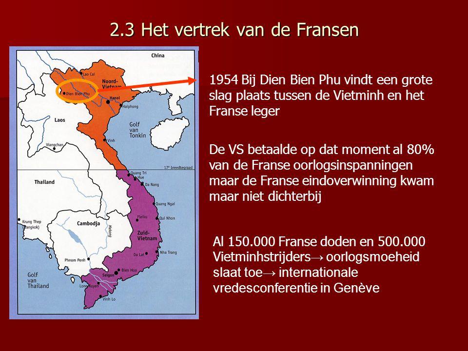 Tot 1950 krijgt de Vietminh geen enkele buitenlandse steun 1949 China wordt communistisch → willen Vietnamese kameraden graag helpen evenals de Russen