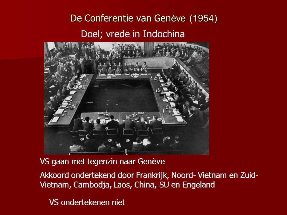 VS willen niet dat Vietnam communistisch wordt → landen om Vietnam zouden dan ook kunnen volgen