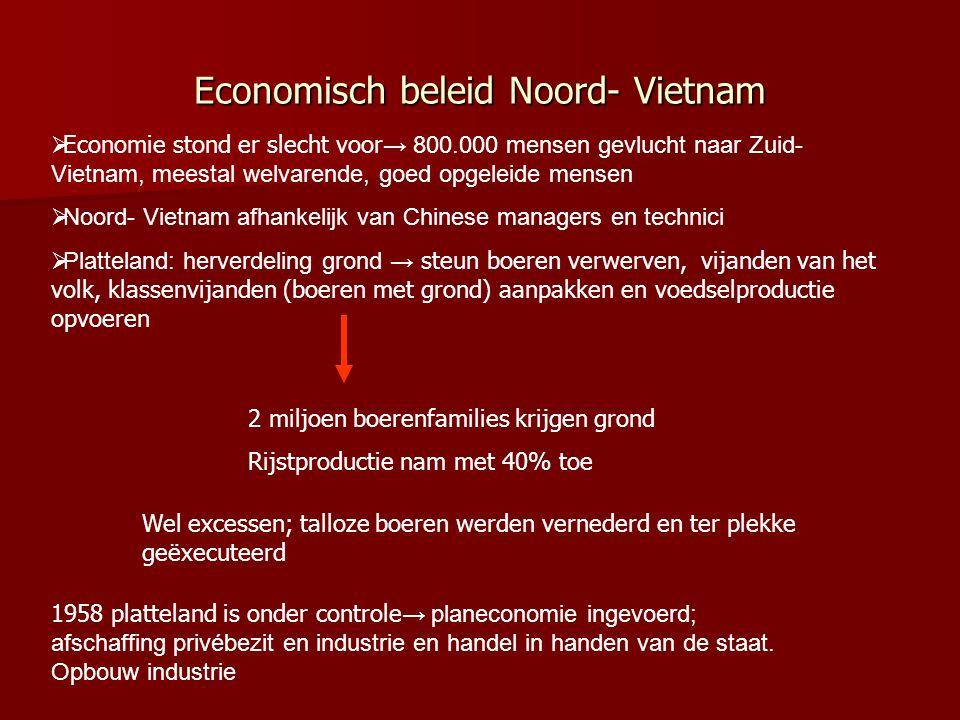 2.4 Twee vijandige staten Hanoi hoofdstad Kenmerken:  Een communistische eenpartijstaat  Vervolging andersdenkenden  Geleidelijke invoering communi