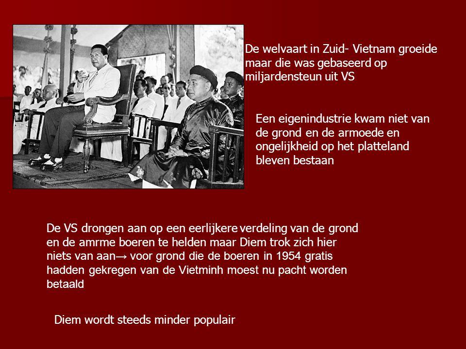 Ngo Dinh Diem maakte einde aan koloniaal bewind en trad hard op tegen communisme. Maar gebruikte Amerikaanse steun om een politiestaat te bouwen en ze