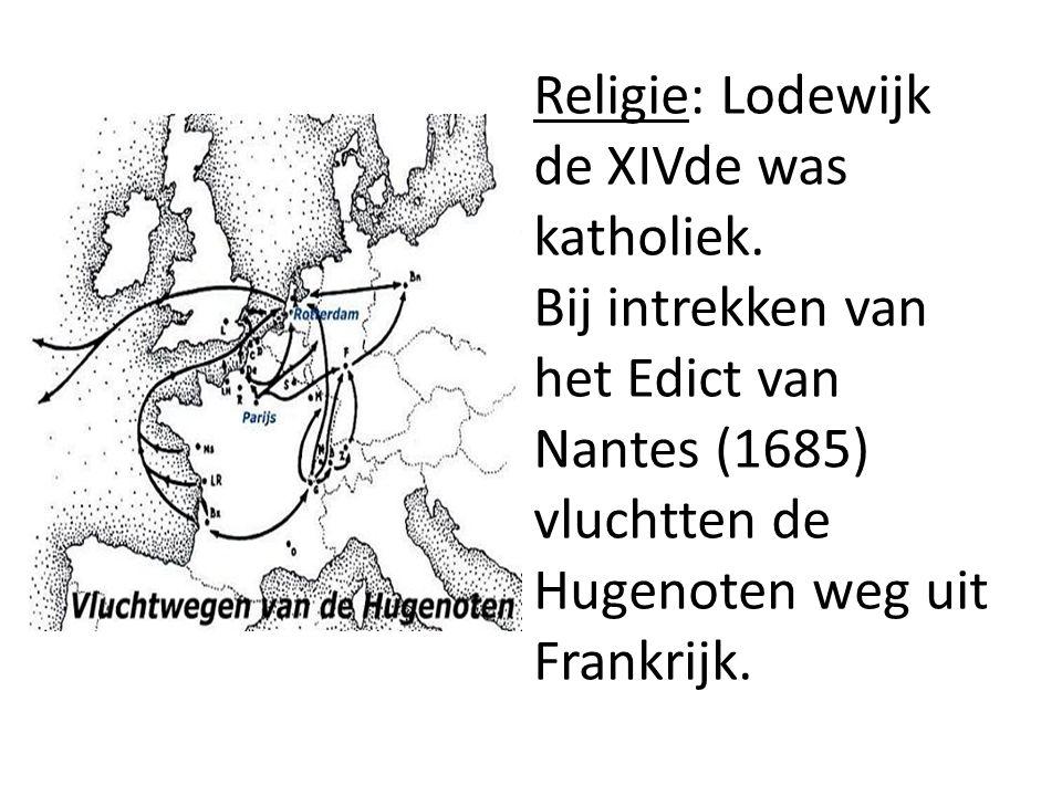 Religie: Lodewijk de XIVde was katholiek.
