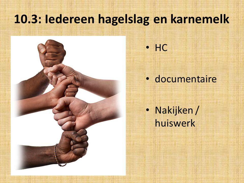 10.3: Iedereen hagelslag en karnemelk.Behoud eigen cultuur of assimilatie .