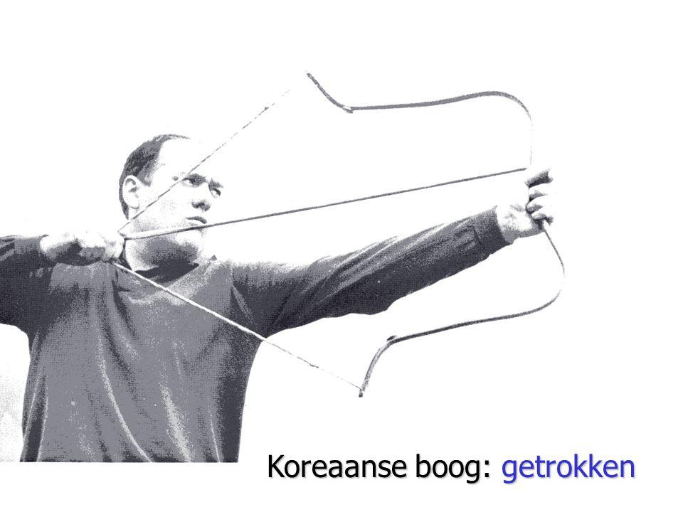 Koreaanse boog: getrokken